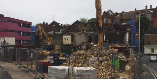 demolition of the old Folkestone Bingo hall