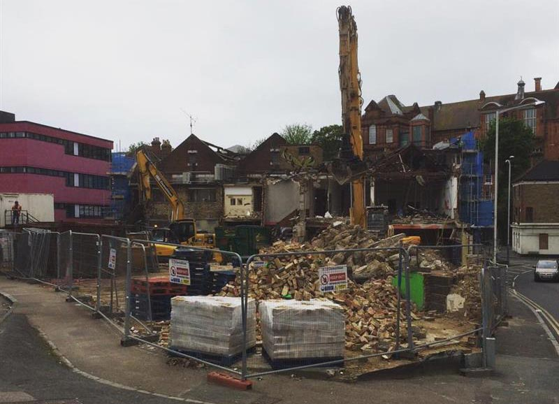 demolition of the old Folkestone Bingo hall